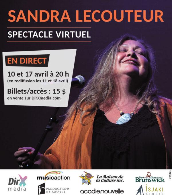 Sandra Le Couteur en spectacle virtuelle sur la plateforme DirXmédia