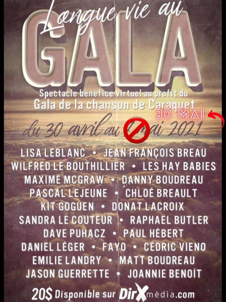 Longue vie au Gala de la chanson de Caraquet