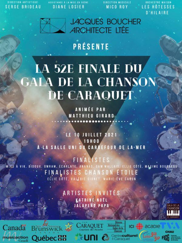 52e finale du gala de la chanson de Caraquet